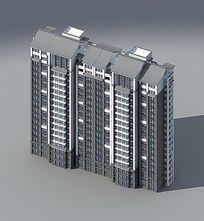 中式住宅18F大楼max模型