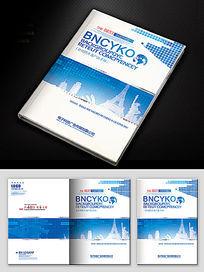 蓝色科技企业封面模板