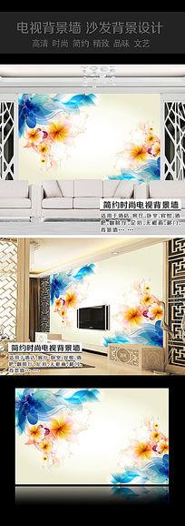 蝶恋花时尚背景墙