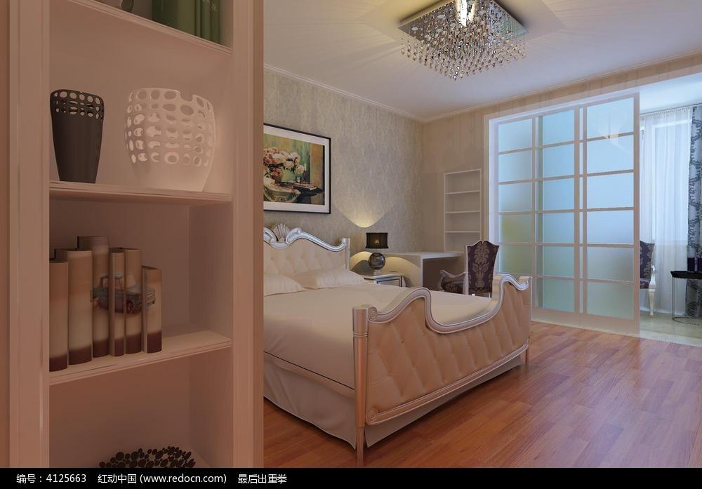 简欧主卧室3d模型