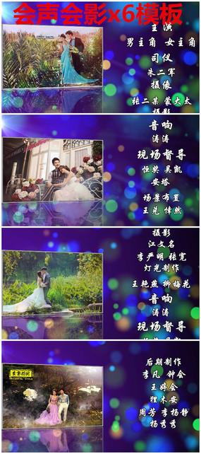 创意婚礼视频相册片尾字幕模板下载