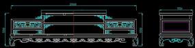 螭龙纹电视柜CAD图纸生产图
