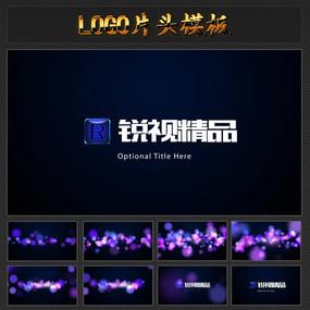 七彩斑斓粒子LOGO演绎视频模板