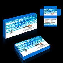 清爽电子产品礼盒包装设计