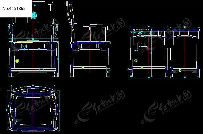 图片官帽椅三扇形CADv图片图_CAD苹果图纸素cad件套版免费下载图片