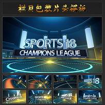 体育类节目开场片头视频模板