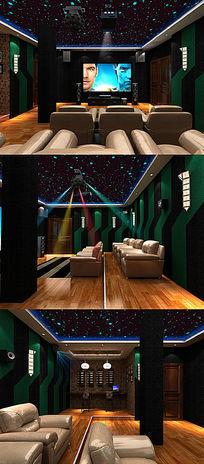 影音室3d模型