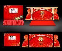 中国婚礼背景板设计