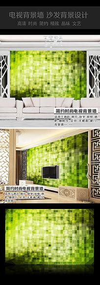 绿色水晶玻璃电视背景墙