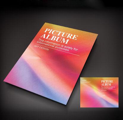 彩色抽象背景画册封面设计图片