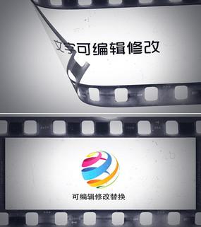 胶卷文字logo展示视频ae模板
