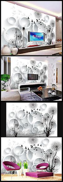 12款 3D花朵手绘电视背景墙