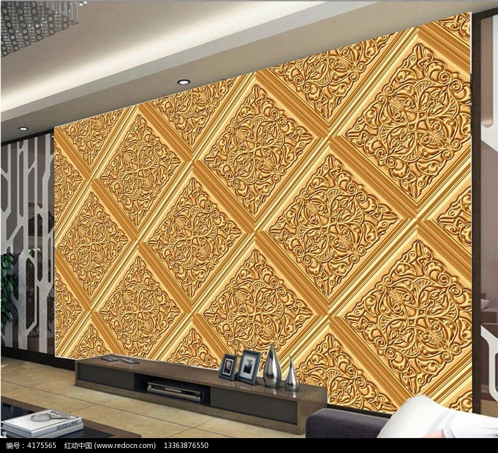 复古欧式电视背景墙