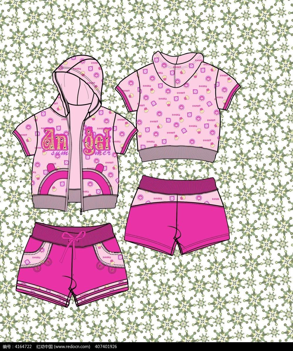 可爱韩版针织童装卫衣设计手稿