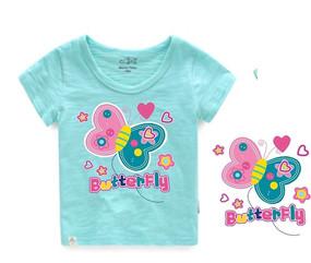 可爱卡通 童装印花 贴布绣图案 蝴蝶烫画