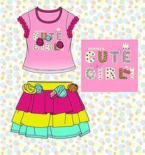 女童款式图 童装款式设计手稿