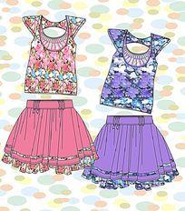 时尚女装 蓬蓬裙设计手稿