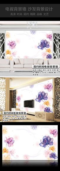 9款 水晶花卉卧室背景墙AI设计素材下载