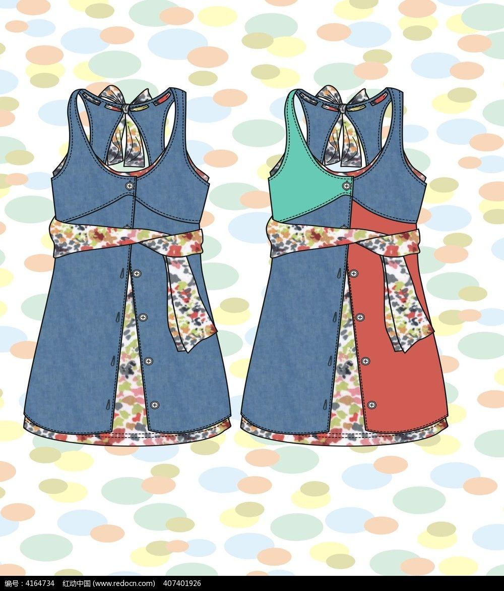 裙子设计图_裙子设计图铅笔手稿_裙子简笔画