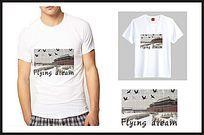 中国风故宫图案T恤印花 CDR