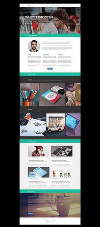 个性化网站企业网站设计 PSD
