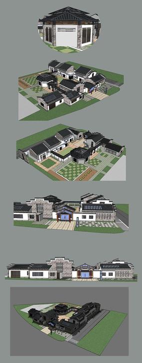 古建别院的SU模型设计