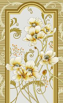 花纹背景玄关屏风设计