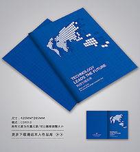 蓝色服务手册封面设计