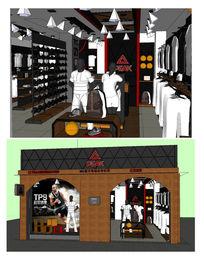 匹克服装专卖店的SU模型设计