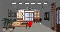 室内家装设计的SU模型