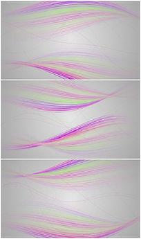超简洁大气彩色线条背景视频