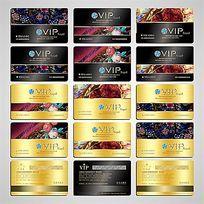 金色尊贵高档金属拉丝黄金浮雕欧式花纹钻石VIP系列会员卡设计