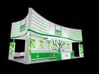 绿色节能科技公司展台模型下载