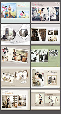 婚纱写真相册模板PSD素材 PSD