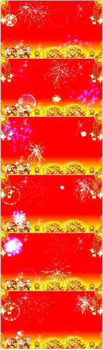 喜庆节日鞭炮烟花视频背景