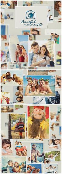 超幸福的散落照片展示视频(婚庆家庭相册)