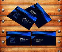 蓝黑科技名片设计
