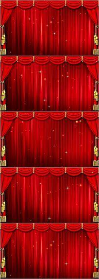 晚会幕布舞台背景视频