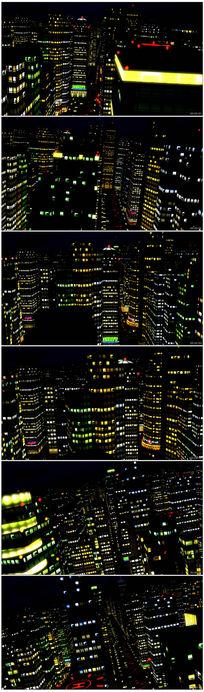 城市夜景时光流逝延时拍摄实拍视频