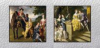 高清宫廷油画装饰画电子稿