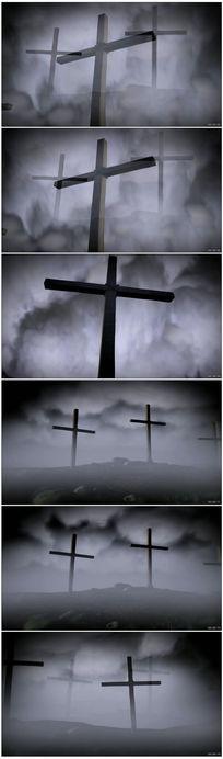 基督教十字架晚会背景视频