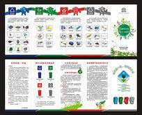 垃圾分类宣传折页设计