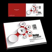 红色科技产品手册横版封面设计