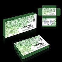 时尚花纹包装盒设计