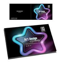 质感星形横版画册封面设计
