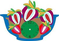 水果钟丝印印刷图