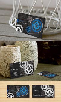 工程齿轮创意名片设计