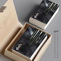 黑色科技感名片设计 CDR