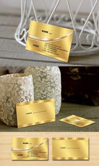金色酒店名片模板