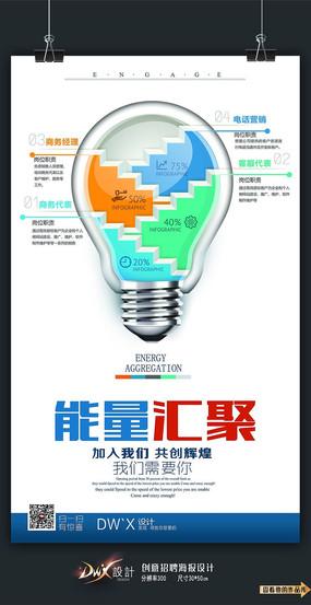 创意能量汇聚招聘海报